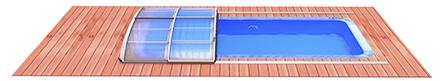 prodloužení kolejí zastřešení bazénu